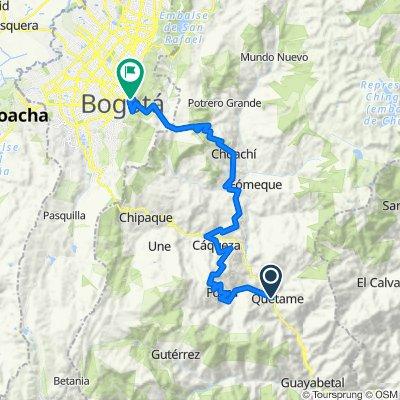 PTE. QUETAME - FOSCA - CÁQUEZA - UBAQUE - CHOACHÍ - BOGOTÁ