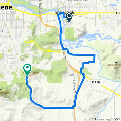 Sporty route in Eugene