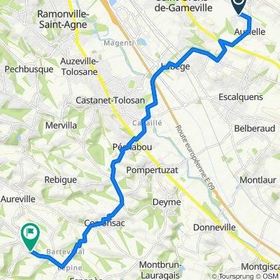 De 1–335 Allée de Nanbours, Auzielle à Route d'Espagne, Clermont-le-Fort