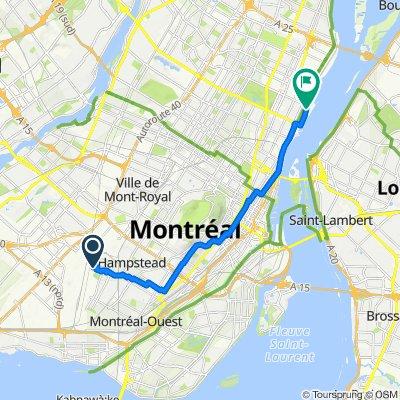 6700 Ch Wallenberg, Côte-Saint-Luc to Rue Port-de-Montréal, Montréal