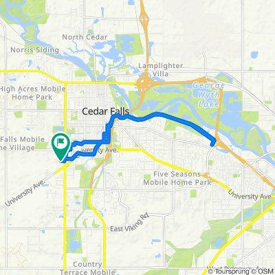 1823 University Dr, Cedar Falls to 1823 University Dr, Cedar Falls
