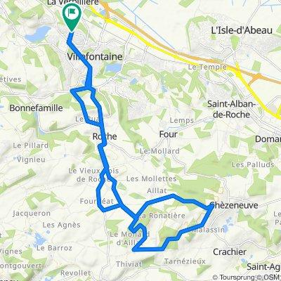 Rue du Bret 76, Villefontaine to Rue du Bret 76, Villefontaine