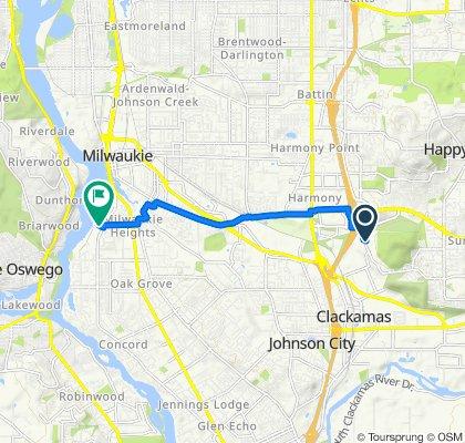 9782 SE Talbert St, Clackamas to 12705 SE River Rd, Portland