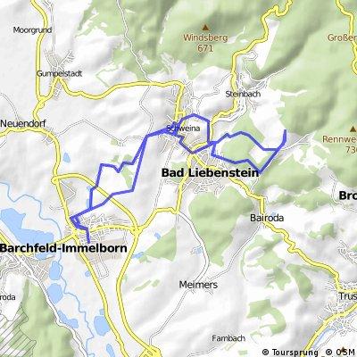 Schweina - Umgebung (Runde), 21km, 10-08-19
