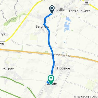 De Rue Louis Maréchal 83, Oreye à Place Constant Vanderbemden 9–23, Remicourt
