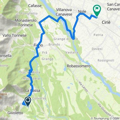 ritornoDa Strada degli Anterei, Givoletto a Via Don C. Marianetti 4, Ciriè