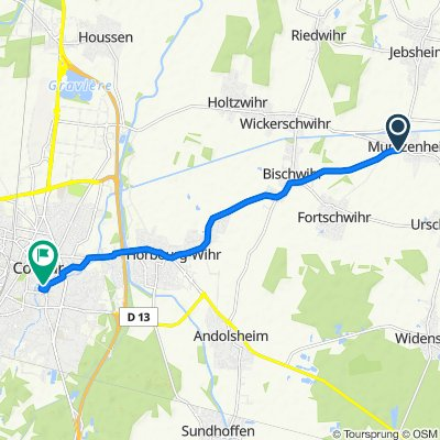 Itinéraire à partir de Rue Principale 12A, Muntzenheim