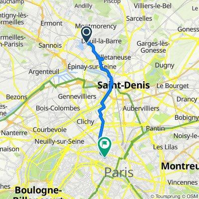 De 4bis Rue Saint-Louis, Enghien-les-Bains à 25 Rue de la Paix, Paris