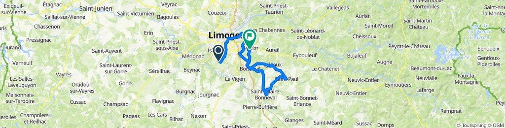De 4 Chemin du Picq, Condat-sur-Vienne à 24 Avenue Georges Clemenceau, Feytiat