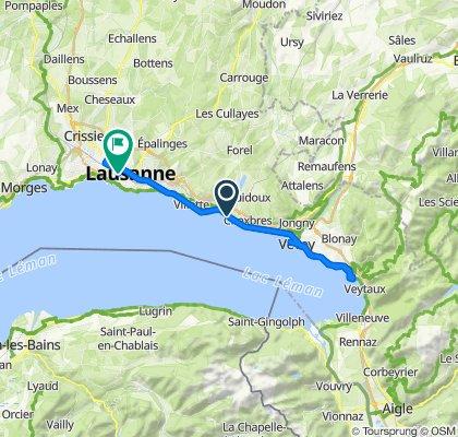 Slow ride in Lausanne
