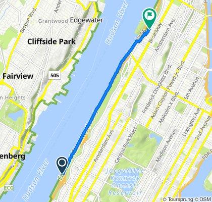 De Henry Hudson Pkwy S, Nueva York a 640 Riverside Dr, Nueva York