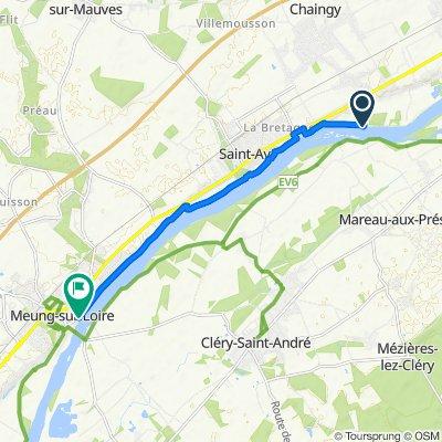 Itinéraire modéré vtt Chaingy - Meung sur Loire