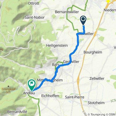 Easy ride in Andlau