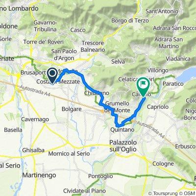 Giro a velocità lenta in Castelli Calepio