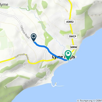 Moderate route in Lyme Regis
