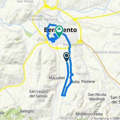 Da Contrada Piano Morra, Benevento a Via Luigi Firrao, Benevento