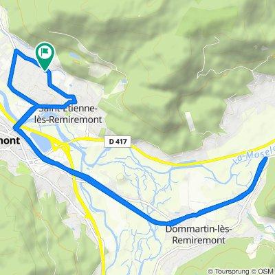Blistering ride in Saint-Etienne-lès-Remiremont