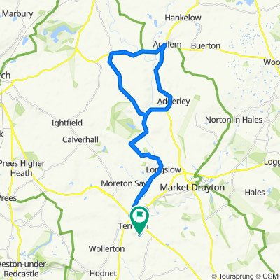 High-speed route in Market Drayton