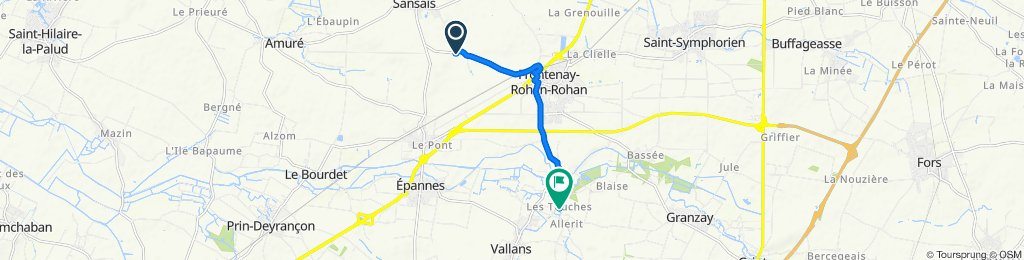 Relaxed route in Vallans