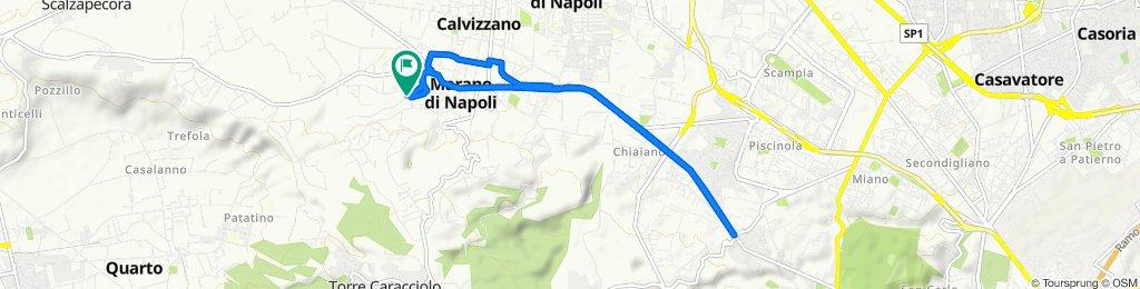 Da Via Padreterno 19, Marano di Napoli a Via Arturo Labriola 6, Marano di Napoli