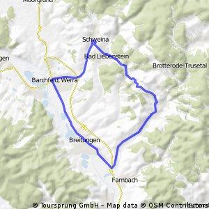 Schweina - Breitungen (Runde), 25km, 10-08-20
