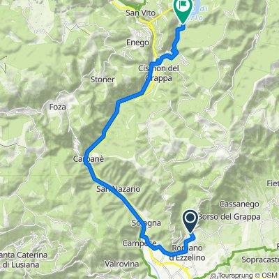 Radtour zum Lago di Corlo