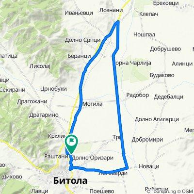 Bitola - Industriski pat - Loznani fabrika - Bitola