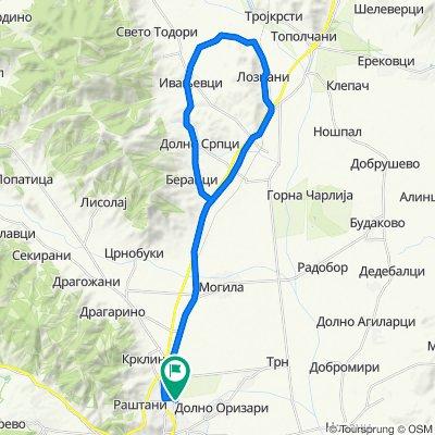 Bitola - Loznani - Novoselani - Beranci - Srpci