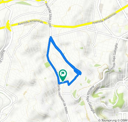 Restful route in Belo Horizonte