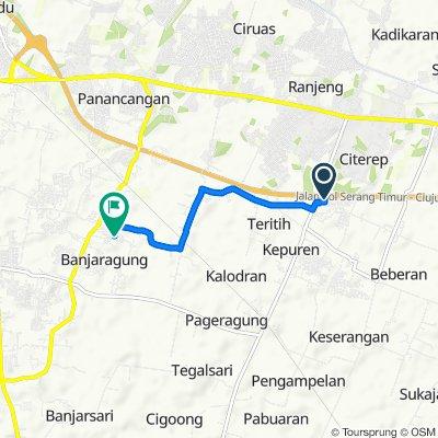 Jalan Ciruas - Petir No.4, Kecamatan Walantaka to Jalan Akses Perumahan No. 3, Kecamatan Cipocok Jaya