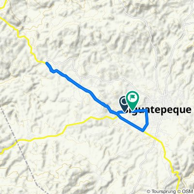 De Calle 21 de Agosto, Siguatepeque a 23 Avenida NO, Siguatepeque