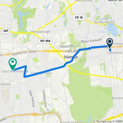 Express Drive South 4560, Ronkonkoma to Vanderbilt Avenue 228, Brentwood