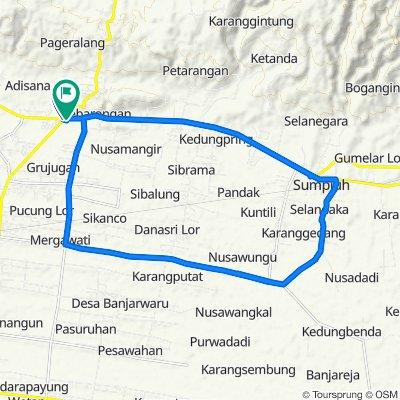 Jalan Buntu - Banyumas 58, Kecamatan Kroya to Jalan Nasional III 44, Kecamatan Kemranjen