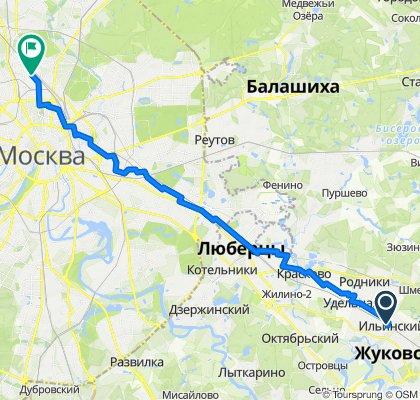 От Праволинейная улица 14 корпус 2, Ильинский до Огородный проезд 6, Москва