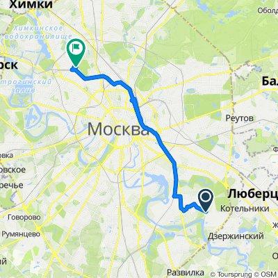 От улица Верхние Поля 34, Москва до улица Новая Ипатовка 23a, Москва