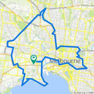 100km around Melbourne