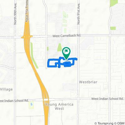 West Meadowbrook Avenue 9231, Phoenix to West Meadowbrook Avenue 9231, Phoenix