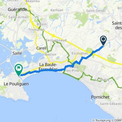 De 2000 Route de Saint-André-des-Eaux, La Baule-Escoublac à 13–16 Quai Jules Sandeau, Le Pouliguen