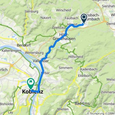Zum Kirmesplatz 9, Ransbach-Baumbach nach Löhrstraße, Koblenz