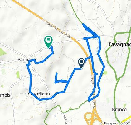Da Via dei Gelsi 5, Pagnacco a Via Monte Canin 25, Pagnacco