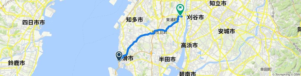 Moderate route in Chita-Shi