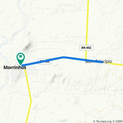 Relaxed route in Morrinhos