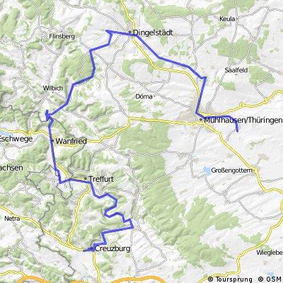 Von Creuzburg über den Hülfensberg zur Unstrut