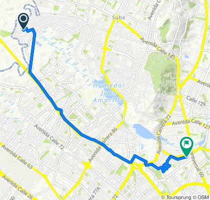 De Calle 136 156d-13, Bogotá a Diagonal 115a 70B-40, Bogotá