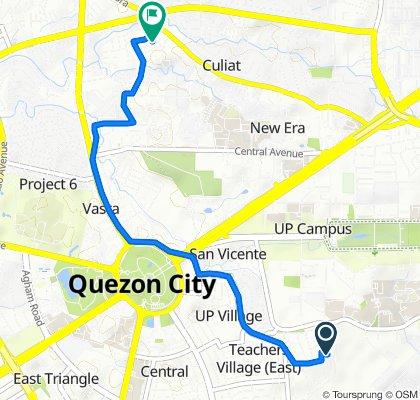 Route to Prudent Lane 2b, Quezon City