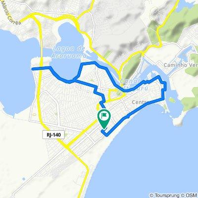 De Rua Nicola Aslam, 133, Cabo Frio a Rua Nicola Aslam, 80, Cabo Frio