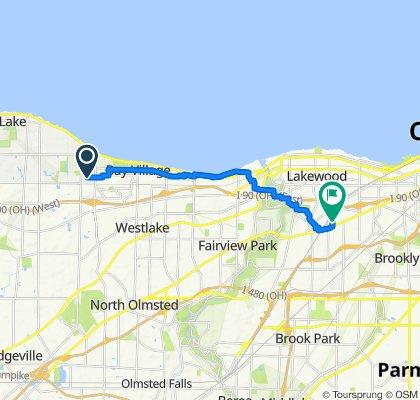 30322 Ashton Ln, Bay Village to 3454 W 137th St, Cleveland