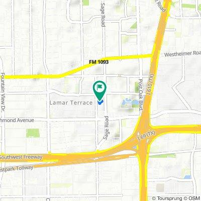De 3300 Sage Rd, Houston a 3300 Sage Rd, Houston