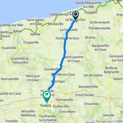 De Route de Luneray 6, Le Bourg-Dun à Route de Doudeville 20, Yvetot