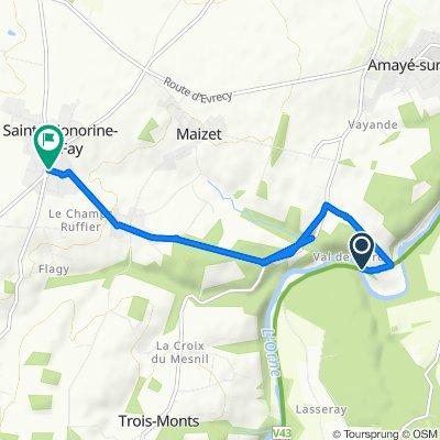 De Les Crillières, Maizet à Rue Des Érables 4, Sainte-Honorine-du-Fay